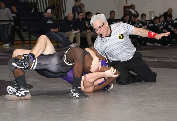 Falcon wrestlers defeated Old Bridge Knights, 37-33 for a first time dual meet win landmark, Jan 19,2013