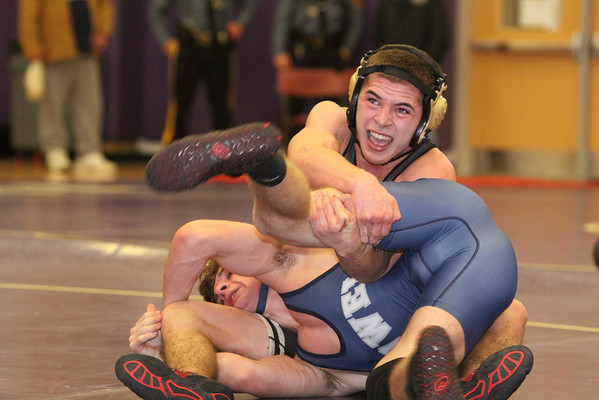 Falcon wrestling loss to Howell Twp, Jan 18 2014