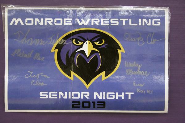 Senior Night Falcon Wrestling vs Carteret, Feb 14, 2013
